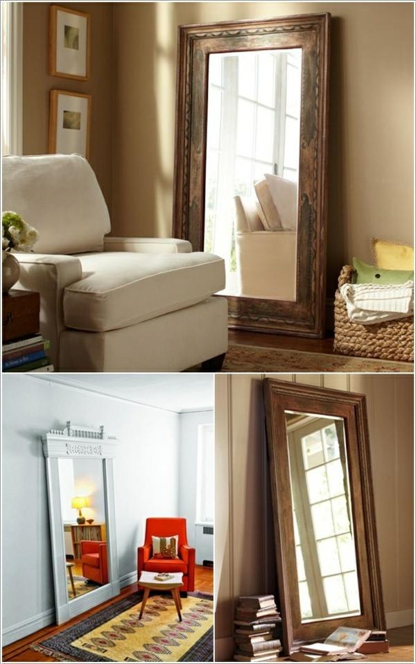 Zimmertüren Alte  diy möbel holz spiegel wand