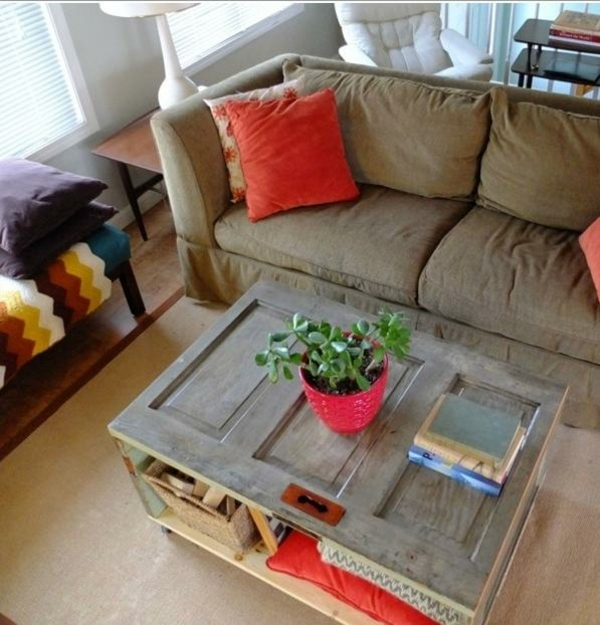 Zimmertüren diy möbel holz tischplatte couchtisch
