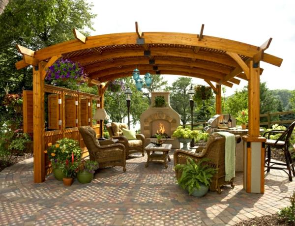 Coole Gartenlauben und Holzpavillons überdachung