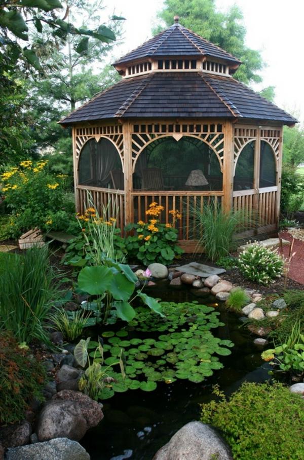Coole Gartenlauben und Holzpavillons asiatisch stil