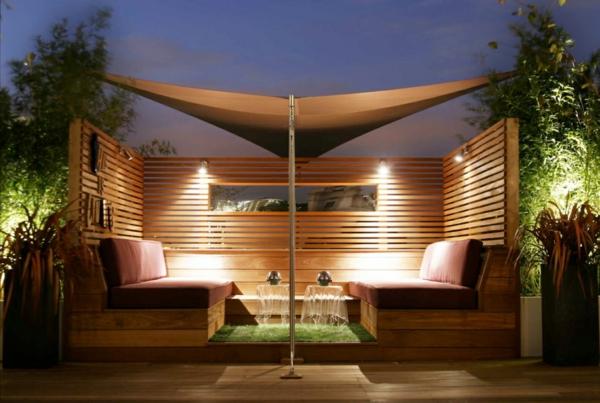 Coole Gartenlauben und Holzpavillons  markise