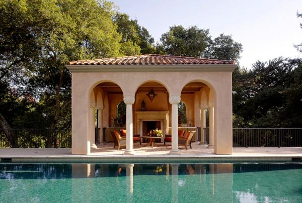 Coole Gartenlauben und Holzpavillons pool