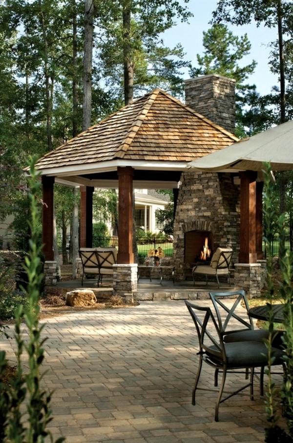Coole Gartenlauben und Holzpavillons spitzdach