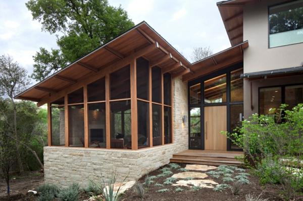 Coole Gartenlauben und Holzpavillons verglast