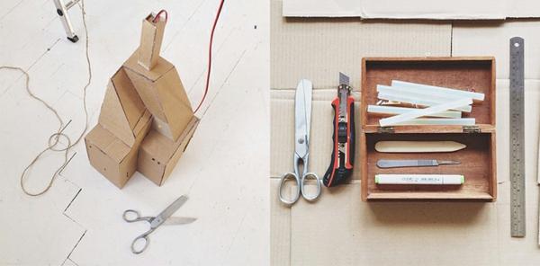 Stadtmodell aus Pappe karton kasten