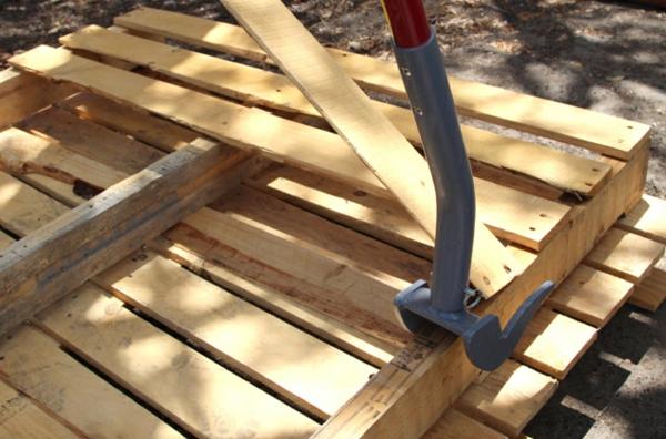 basteln Holzkiste werkzeuge Aufbewahrungsbox holzpaletten garten