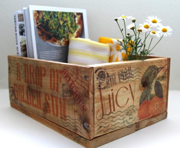 Diy holzkiste und aufbewahrungsbox aus europaletten for Aufbewahrungsbox selber machen