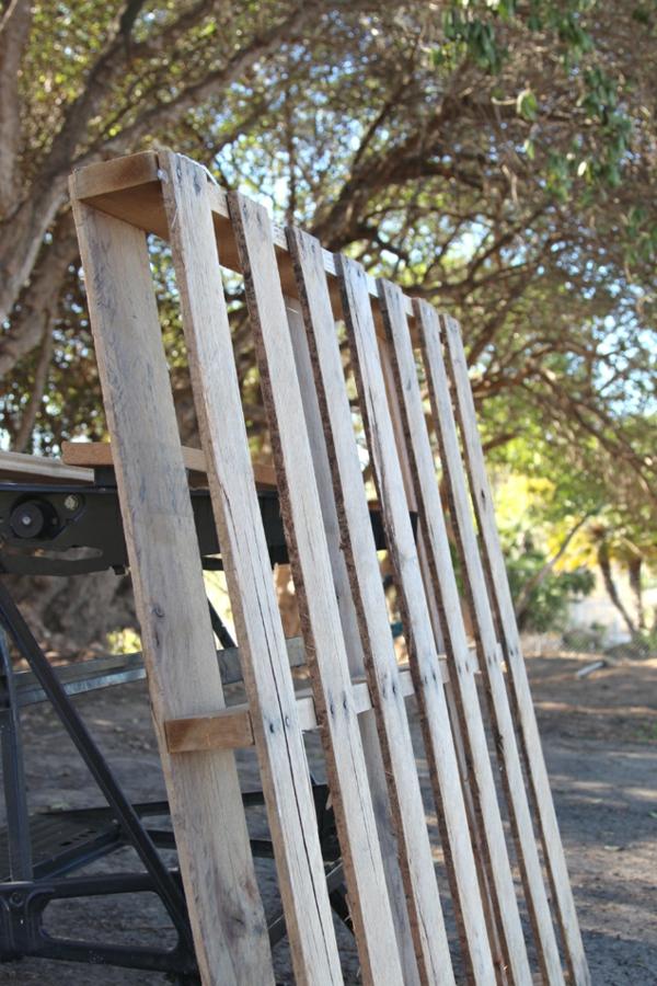 Aufbewahrungsbox DIY Holzkiste Europaletten rau