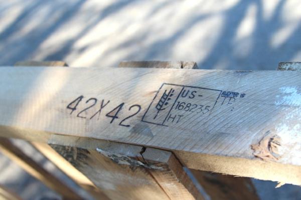 schatten Holzkiste Aufbewahrungsbox aus Europaletten