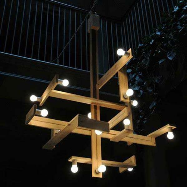 DIY Kronleuchter aus Europaletten konstruktion