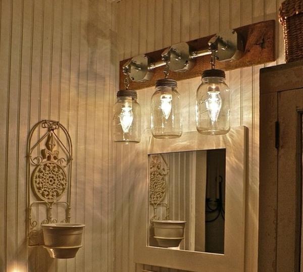DIY Kronleuchter Europaletten wandlampen