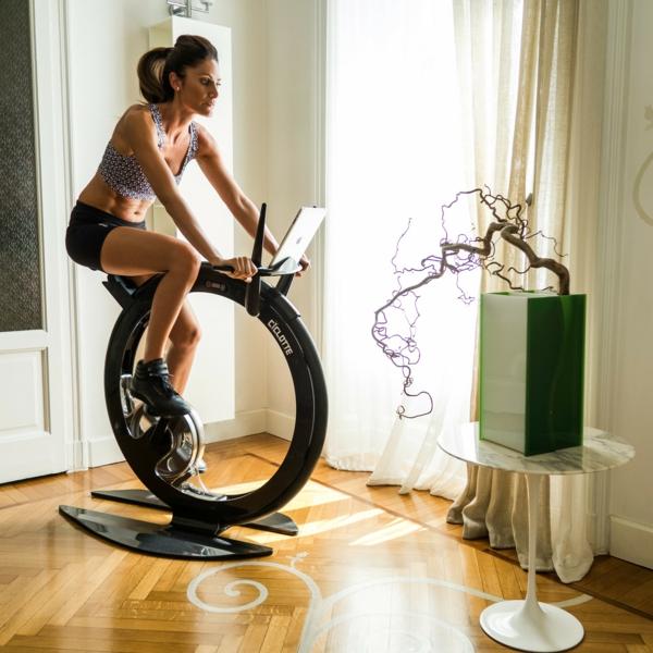 Fitness Fahrrad Heimtrainer dekoration effektvoll