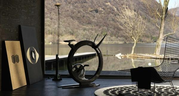 Heimtrainer teppich rund projekt Fitness Fahrrad  zusammenarbeit