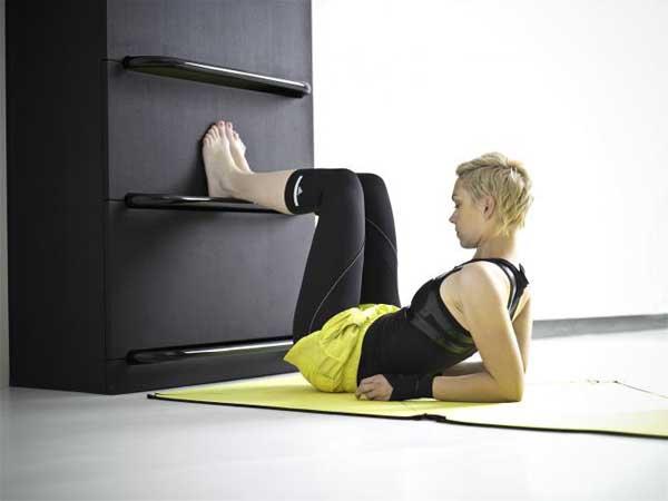 eigenes körpergewicht Fitnessraum und Sportgeräte zu Hause beine