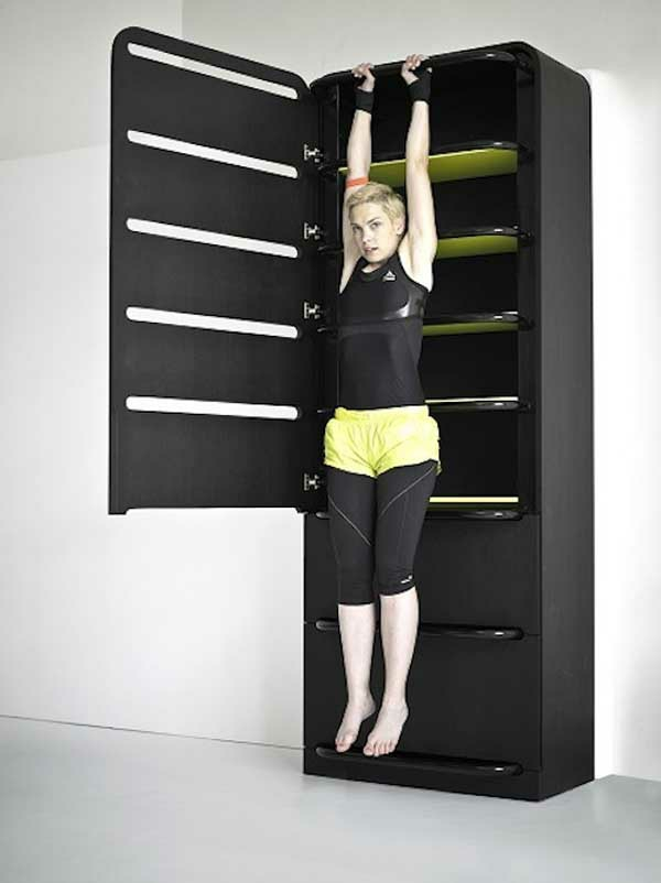 Fitnessraum Sportgeräte zu Hause rücken