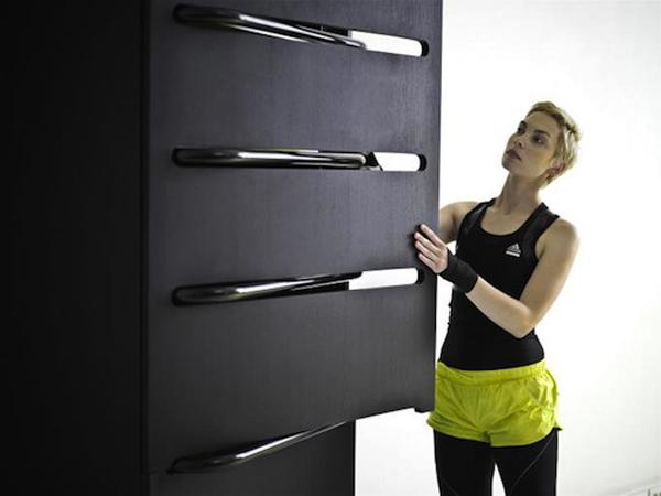 Fitnessraum und Sportgeräte zu Hause schubladen
