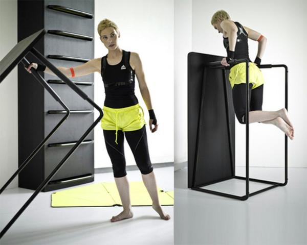 Fitnessraum und Sportgeräte zu Hause training