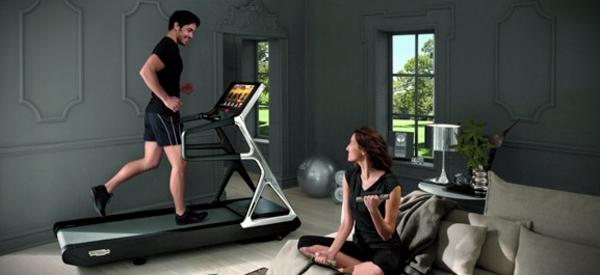 Fitnessraum und Sportgeräte zu Hause wandgestaltung