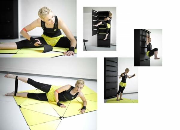 Fitnessraum wandgestaltung  Fitnessraum und Sportgeräte zu Hause - günstige Einrichtungslösungen