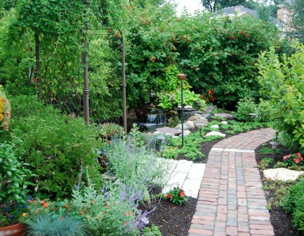 Sch ne gartengestaltung mit steinen und kies for Gartengestaltung nach farben