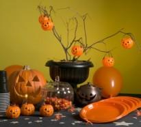 Tischdeko basteln – Halloween Deko selber machen