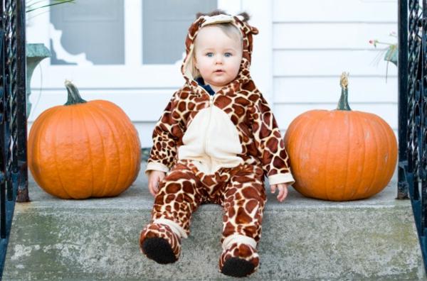 Halloween Kinderkostüme kürbisse tiger
