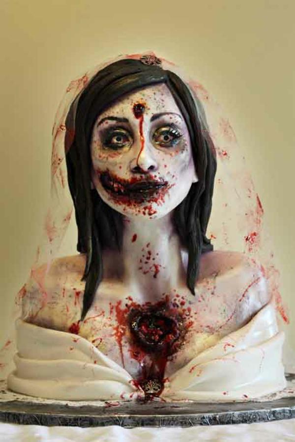 Halloween Kuchen Deko blut braut