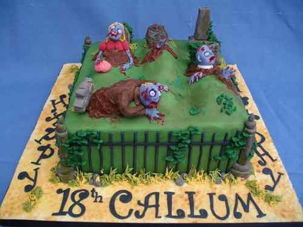 Halloween Kuchen Deko gräber