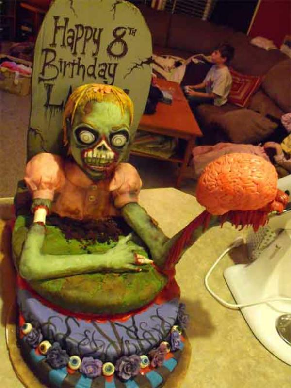 Halloween Kuchen Deko grab