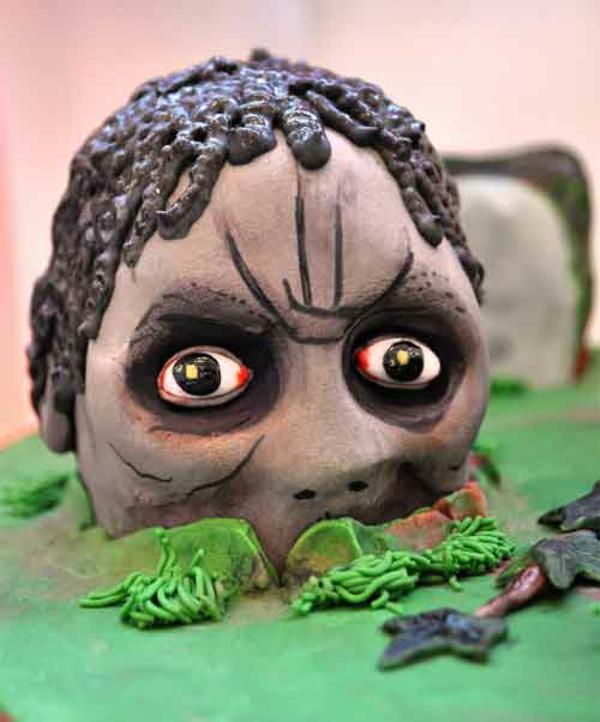 Halloween Kuchen Deko kopf tot