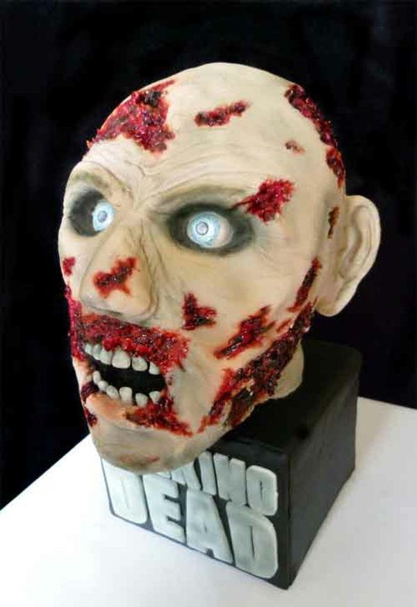 Halloween Kuchen Deko masken zombie