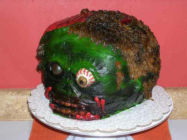 Halloween Kuchen Deko zombie