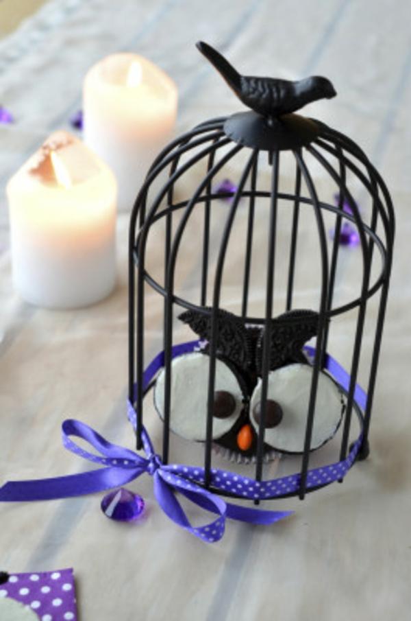 Halloween Party kuchen Essen vogel käfig