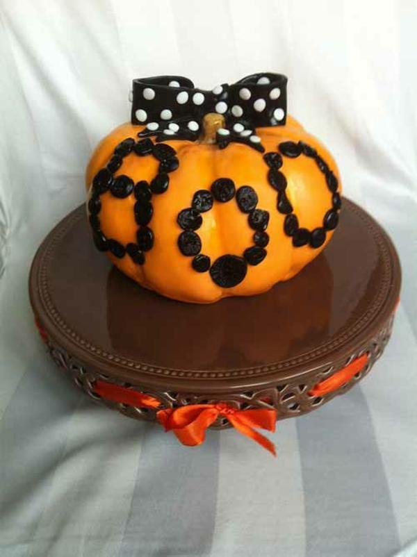 Halloween Ideen kürbisse torten kuchen festlich