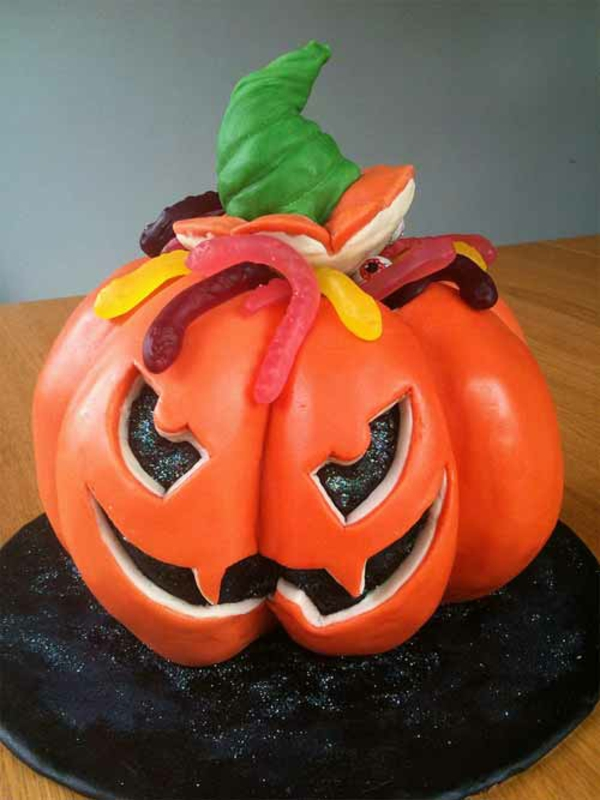 halloween party ideen tolle kuchen in k rbisform. Black Bedroom Furniture Sets. Home Design Ideas