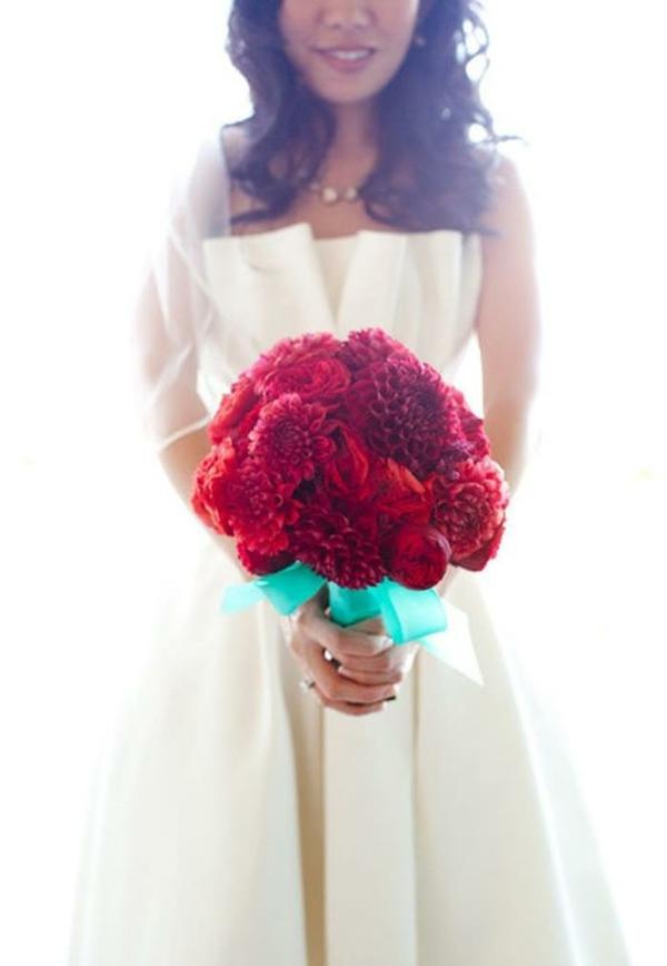 Hochzeitsblumen Brautsträuße Bilder blutrot