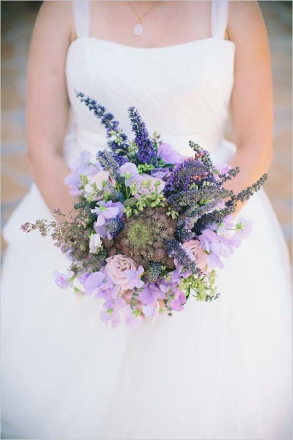 Hochzeitsblumen Coole Brautsträuße lila