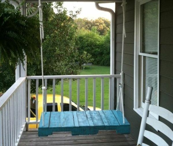 Gartenschaukel aus Paletten veranda