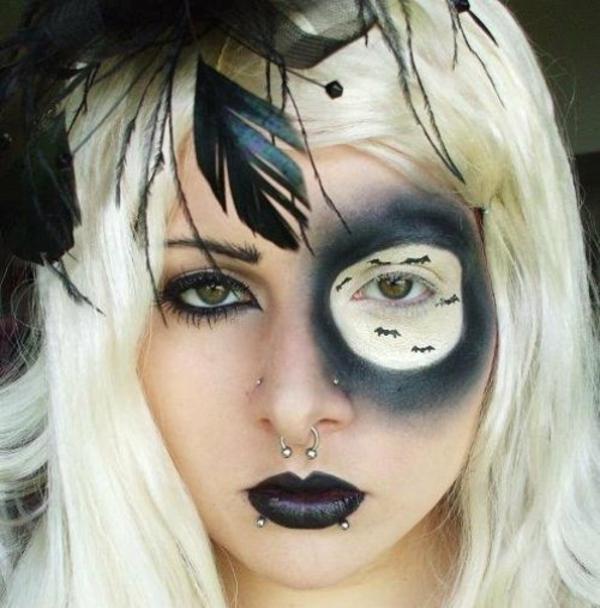Horror Gesicht Schminken Fur Halloween