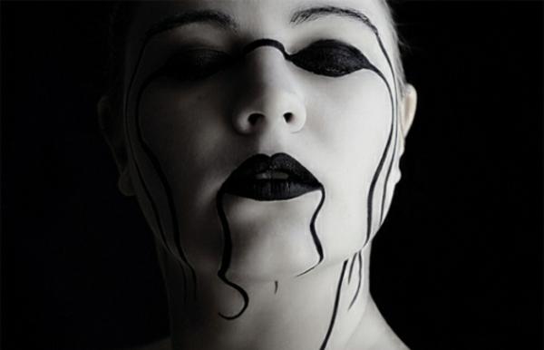horror gesicht schminken f r halloween. Black Bedroom Furniture Sets. Home Design Ideas