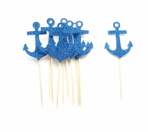 Küstennahe blau gelb stangen  Hochzeitsdeko basteln erwachsene