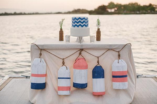 nautisch Hochzeitsdeko Ideen tischdeko meer