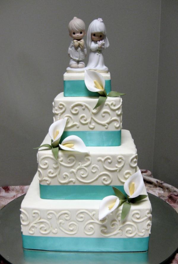 mädchen junge Hochzeitskuchen und Torten liebespaar