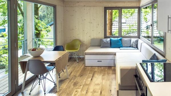 modern contemporary Baumhaus berlin baumhaushotel sitzecke
