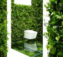Badezimmerideen – japanisches outdoor Bad einrichten
