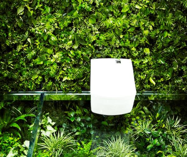 badezimmerideen japanisches bad grüne blätter