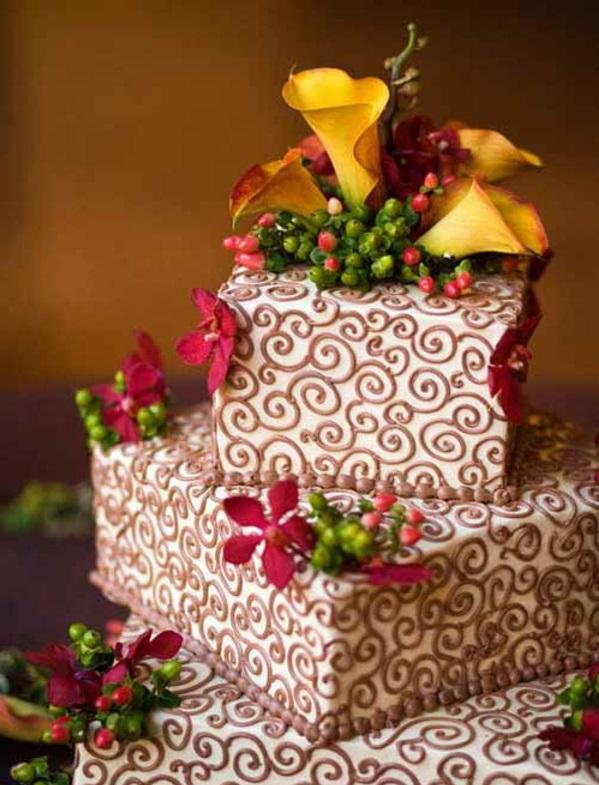 Mehrstöckige Hochzeitstorten kuchen braut rosen schokoladen