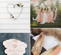 Meine Hochzeitsdeko in Cremig und Pfirsichfarben