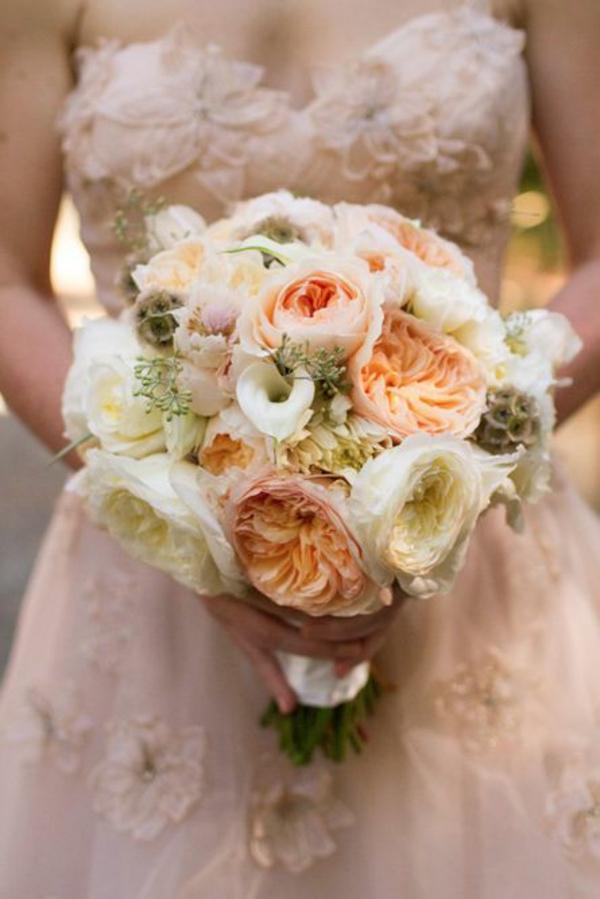 Meine Cremig und Pfirsichfarben Hochzeitsdeko blumen garten