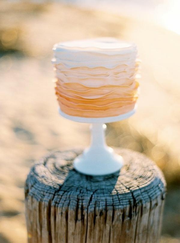 Meine Hochzeitsdeko in Cremig und Pfirsichfarben mini